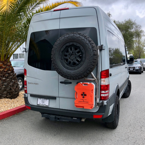 High Mount Tire Carrier with Rotopax mount Option (not included)